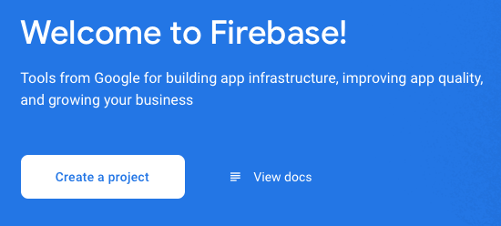 create project in firebase